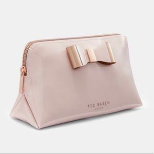 Rose Gold Ted Baker Vivekah Bow Makeup Bag